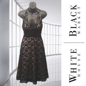 WHBM Lace Halter Dress